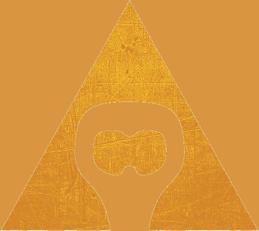 žlto oranžový trojuholník so symbolom otvaráku na pivo