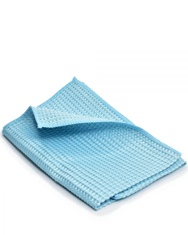 modrá handrička Racoon Cleaning products na okná a sklá