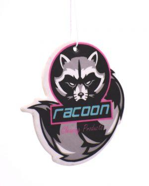 Zavesná vôňa v tvare a farbách loga Racoon Cleaning Products