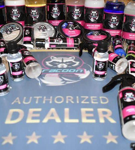 široký sortiment produktov autokozmetiky Racoon Cleaning Products Autorizovaný díler pre SK